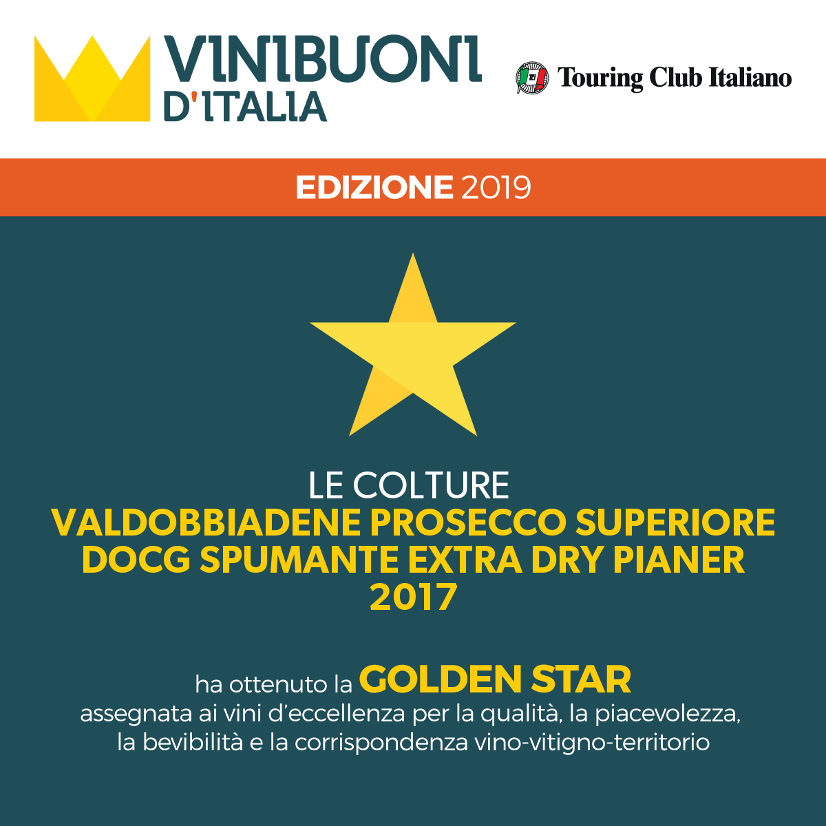 Golden Star by Vinibuoni d'Italia